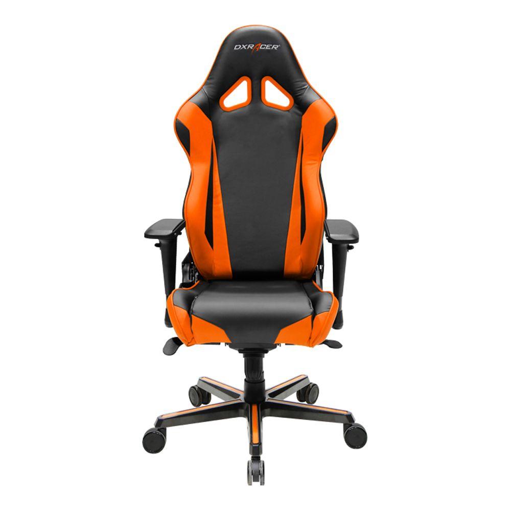 Orange Office Chairs - Dxracer oh rv001 no high back racing style office chair vinyl pu black orange