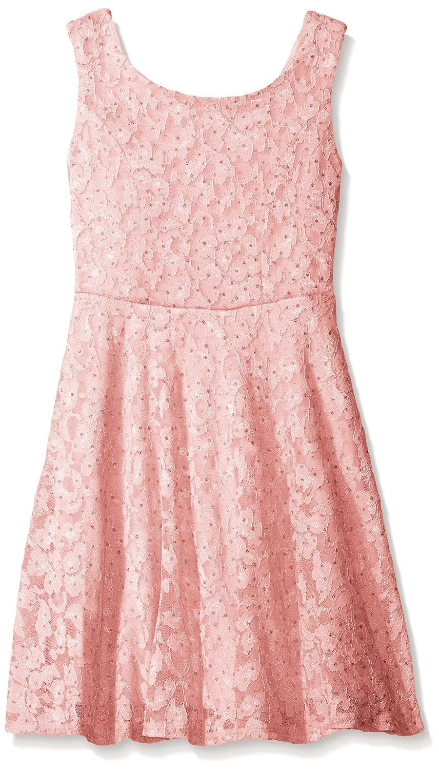 727aaf9e2e1 Amazon.com: Speechless Big Girls Lace Dress Knee Length Slv Less, Lite Pink,  10: Clothing