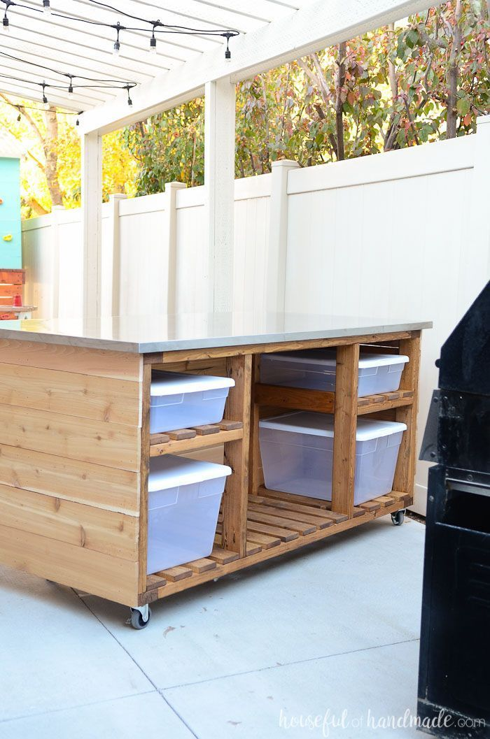 Isla De Cocina Al Aire Libre Construir Planes Portable Kitchen Island Outdoor Kitchen Island Build Outdoor Kitchen