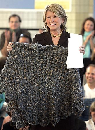 Martha Stewart Poncho She Wore When She Left Prison Both Knit And