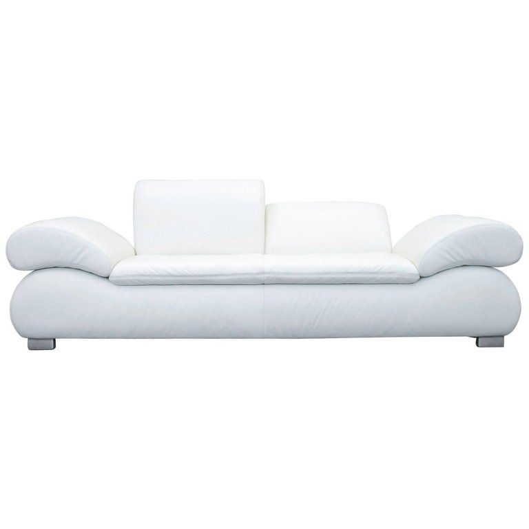 Koinor Diva Designer Leather Sofa White Function Two Seat Modern From A Unique Collection Of Antique And Modern Sofas Leather Sofa White Sofas Modern Seating