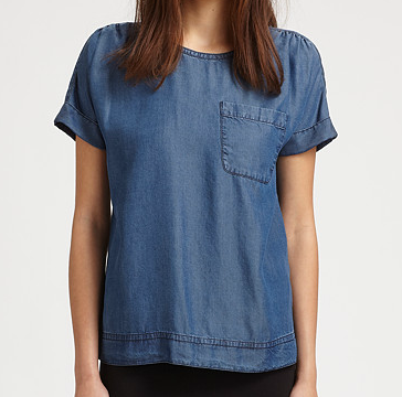 Marc by Marc Jacobs Laurel Chambray Tee - sales bargain, XS but perfect on me!