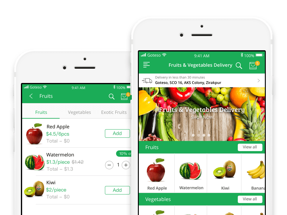 On Demand Vegetable Ordering and Delivery Business App