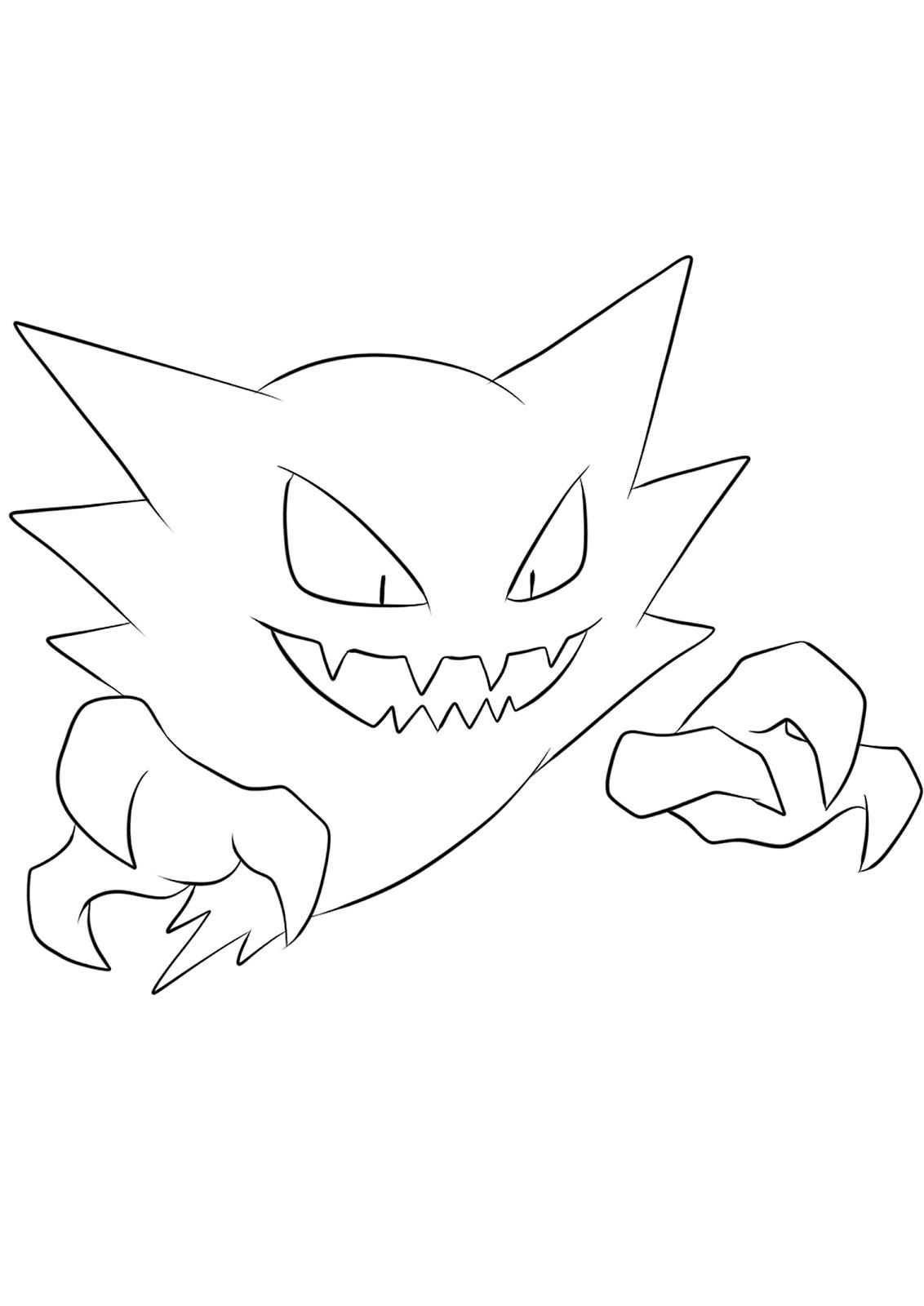 Haunter Coloring Books Pokemon Coloring Sheets Pokemon Coloring Pages Pokemon Coloring