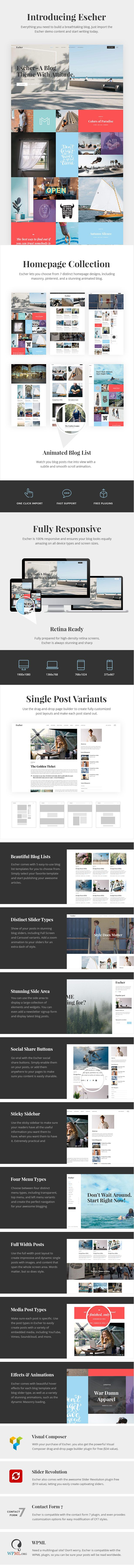 Google themes download for homepage - Escher An Urban Lifestyle Blog Theme