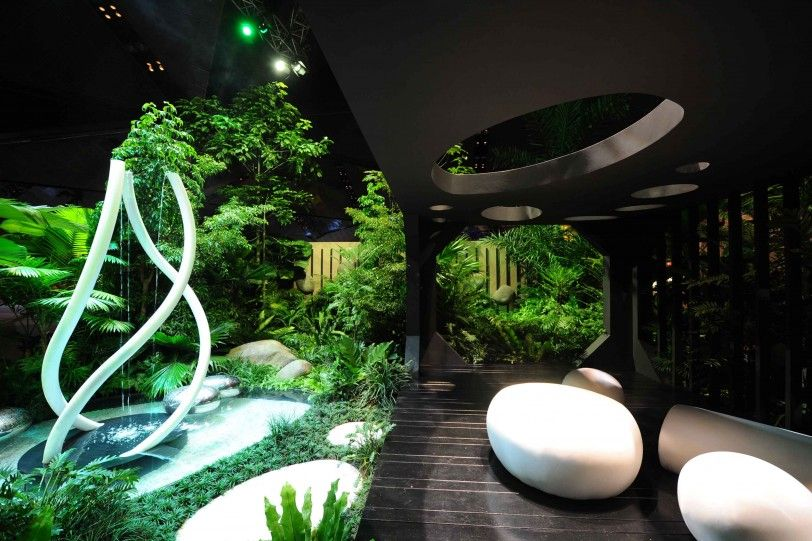 Mesmerizing Modern Garden Olive Garden Employee Login Modern Garden Design At Singapore Garden Festival Most G Modern Garden Modern Garden Design Garden Design