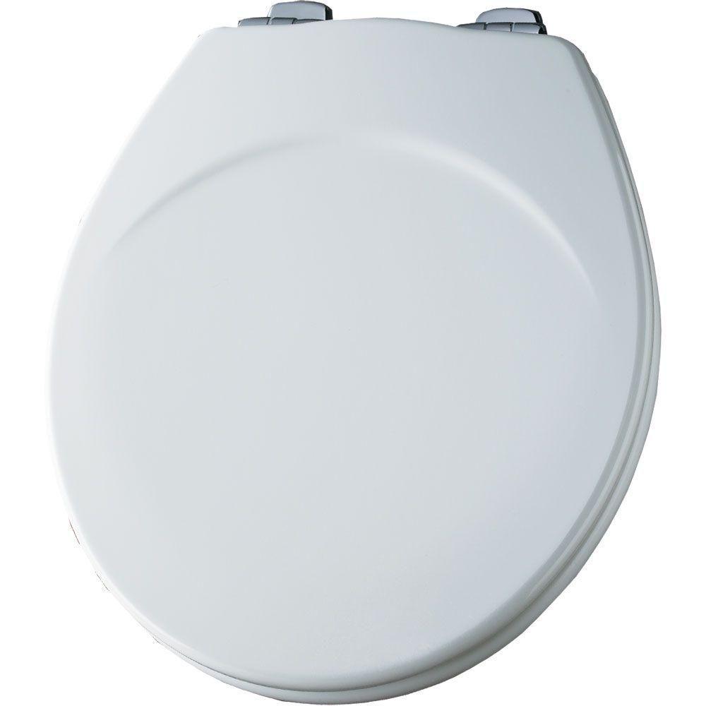 Bemis Sta Tite Round Closed Front Toilet Seat In White 553chsl 000