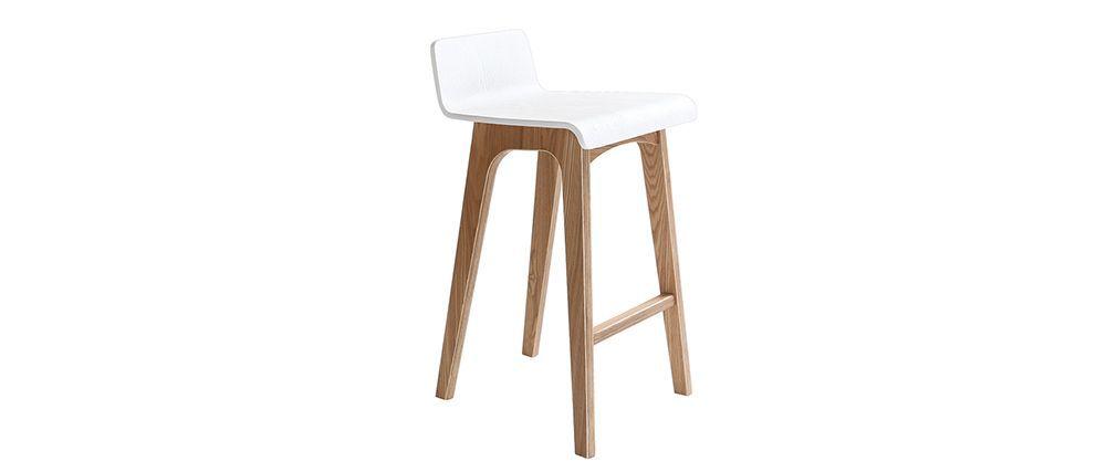 chaise de bar en bois 65 cm scandinave baltik. Black Bedroom Furniture Sets. Home Design Ideas