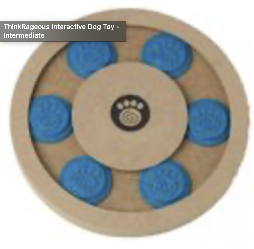 Interactive Dog Toys Exercise ThinkRageous Interactive Dog Toy - Intermediate