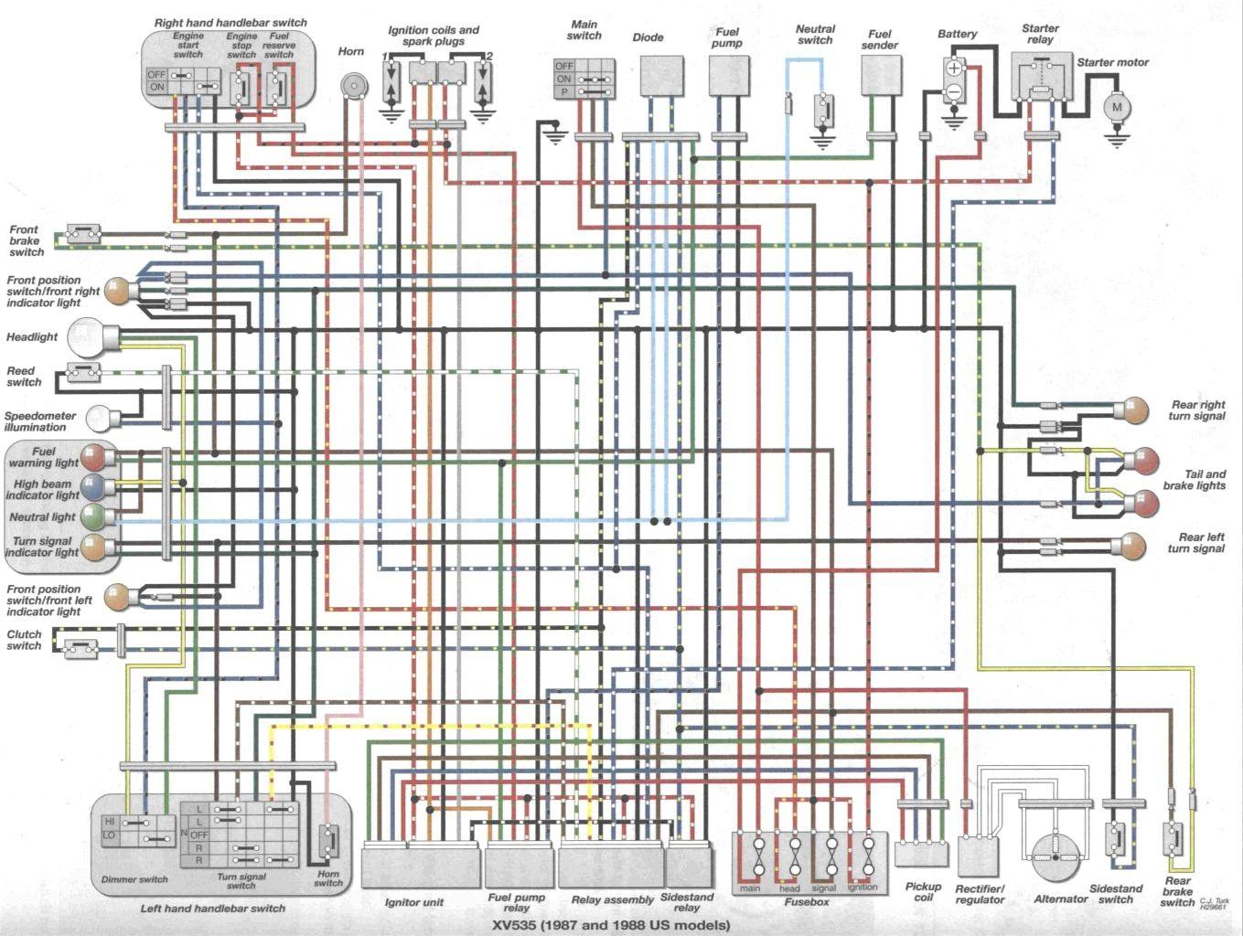1986 yamaha virago 700 wiring diagram xv535 wiring diagrams konsult 85 xv700 wiring diagram [ 1359 x 1024 Pixel ]