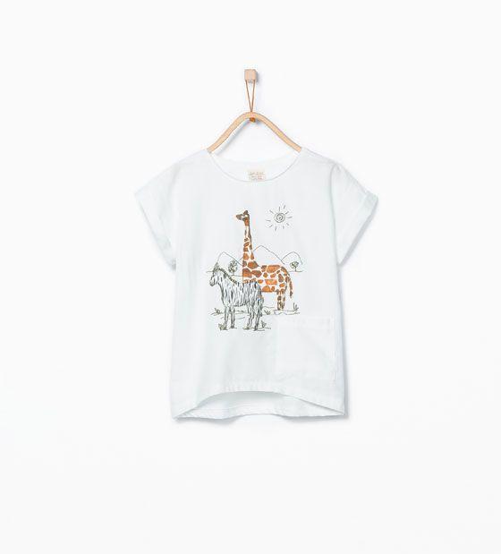 T-shirt à broderies animaux