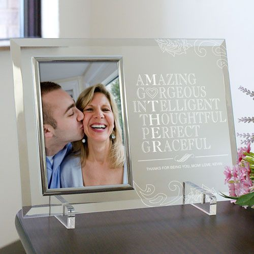 engraved mother glass picture frame - Engraved Photo Frame