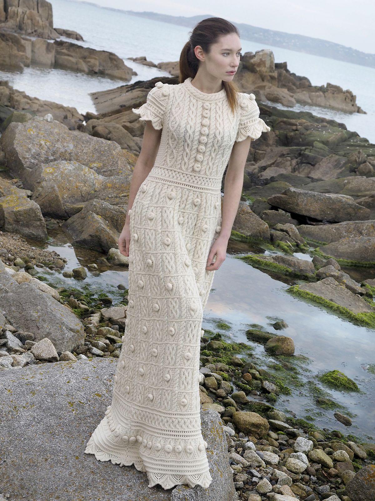Knitted wedding dress  Knitted dress  crochet creations  Pinterest  Crochet Knit