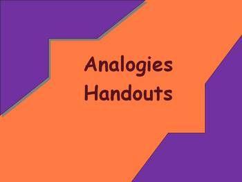 Analogy worksheet and answer key | Reading Tutoring