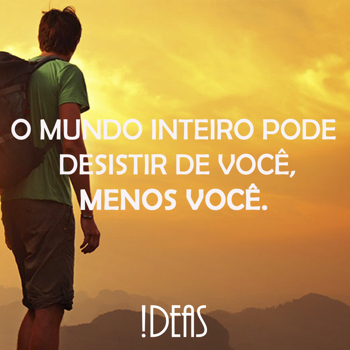 Nunca desista de Você! #ideas #Mkt #comunicação #Marketing #marketingdigital #Riopreto #ideascomunicacao