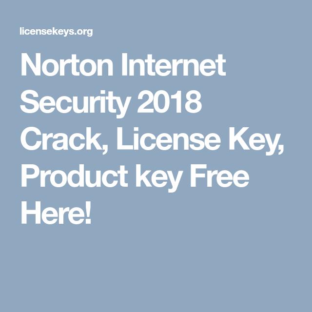 norton internet security product key free 2018