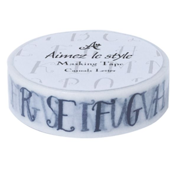 Casual Letter Washi TapeMasking Tape Schmal  Casual Products