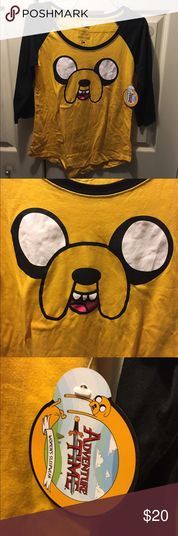 d704c064bb Jake the Dog Adventure Time women s pajamas large Jake the Dog Adventure  Time pajama set!
