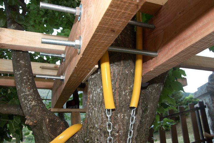 cabanes dans les arbres fixations recherche google tree house. Black Bedroom Furniture Sets. Home Design Ideas