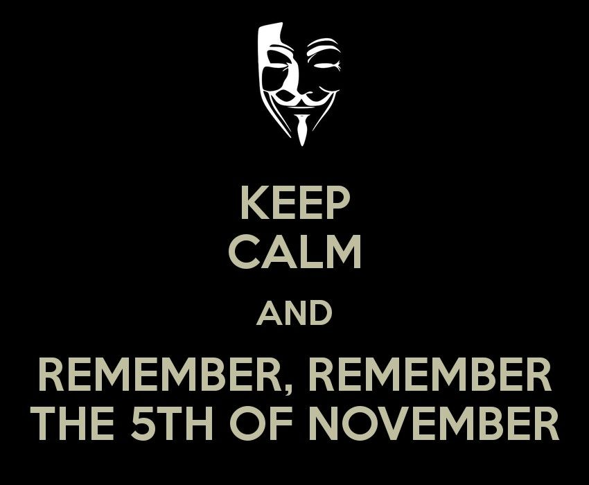 V For Vendetta The 5th Of November Calm Quotes Keep Calm Quotes