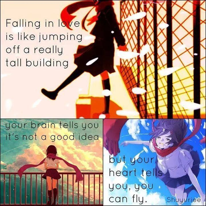 Falling In Love Is Like Jumping Off A Really Tall Building Your