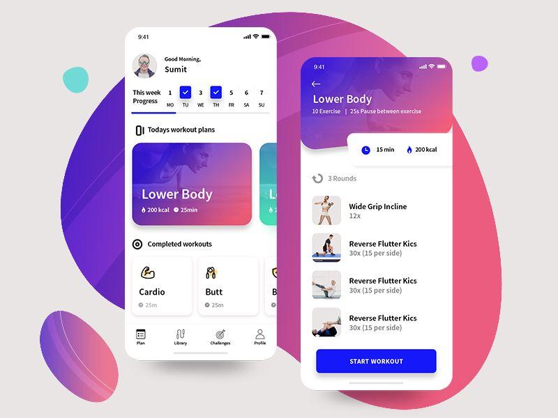 Fitness App Workout Apps Gym App App Design