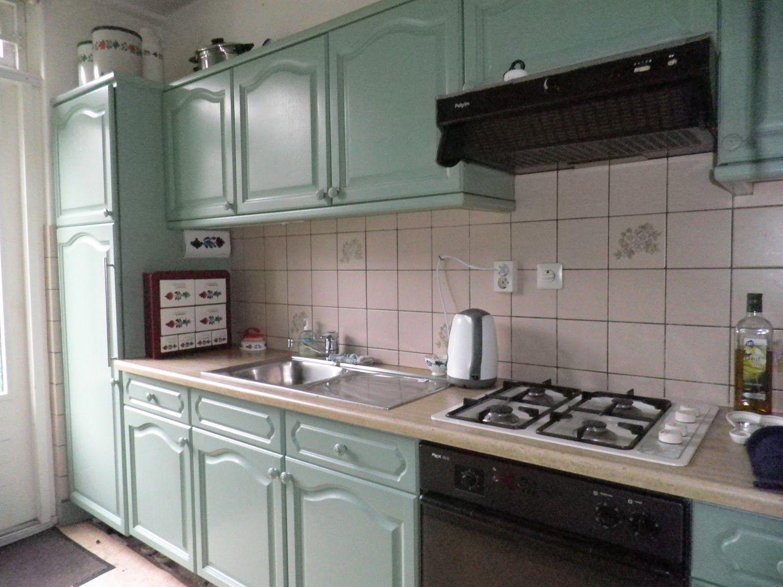 Houten Keuken Geverfd : Lichtgroen geverfde eiken keuken nosso apartamento