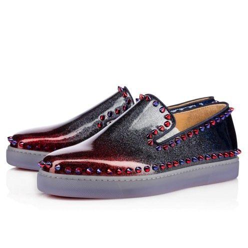 Christian Louboutin Zapato de barco azul
