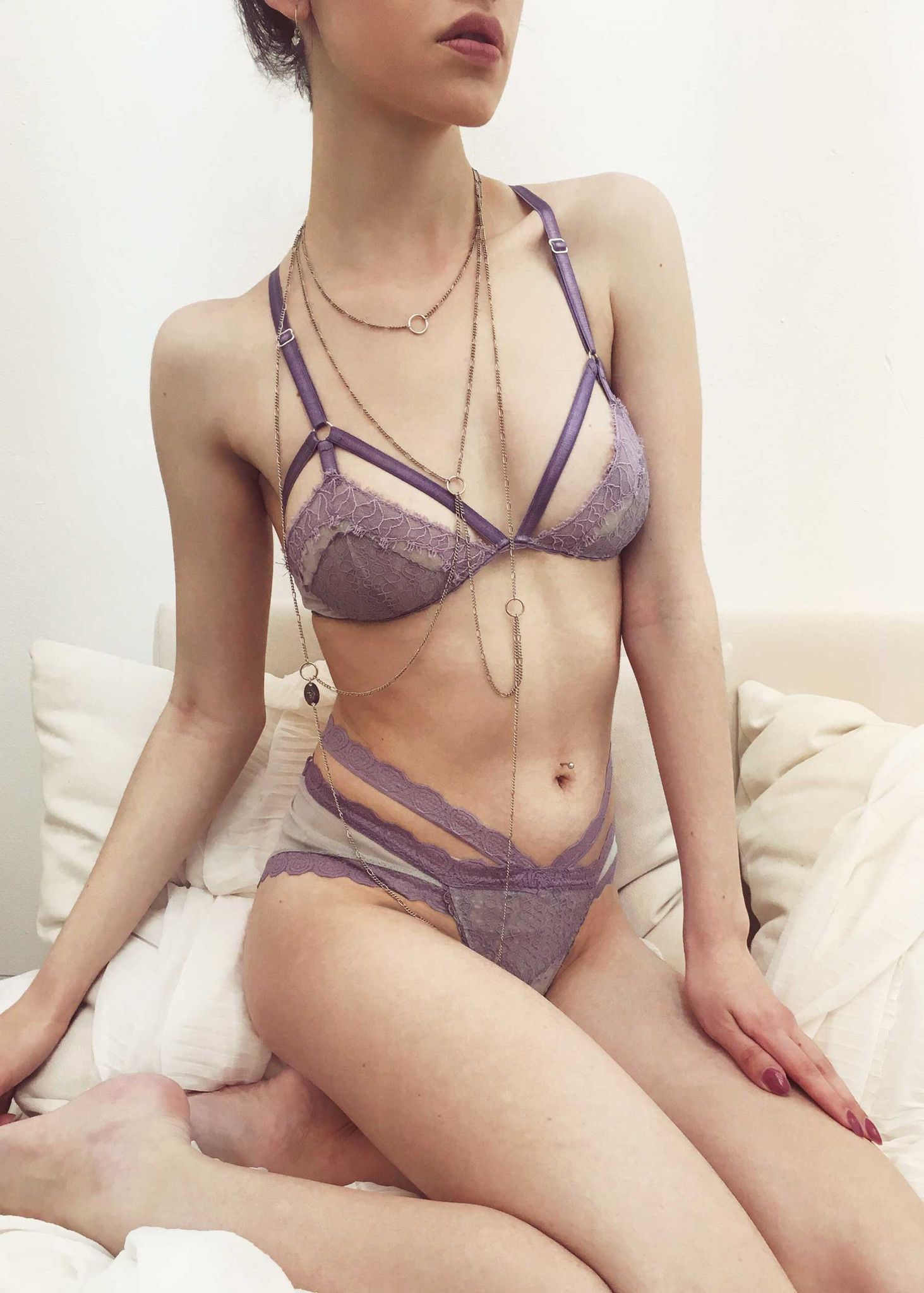 Lace bodysuit i saw it first  Traci Demi Cup Eyelash Lace Bralette in Fluorite  Addiction