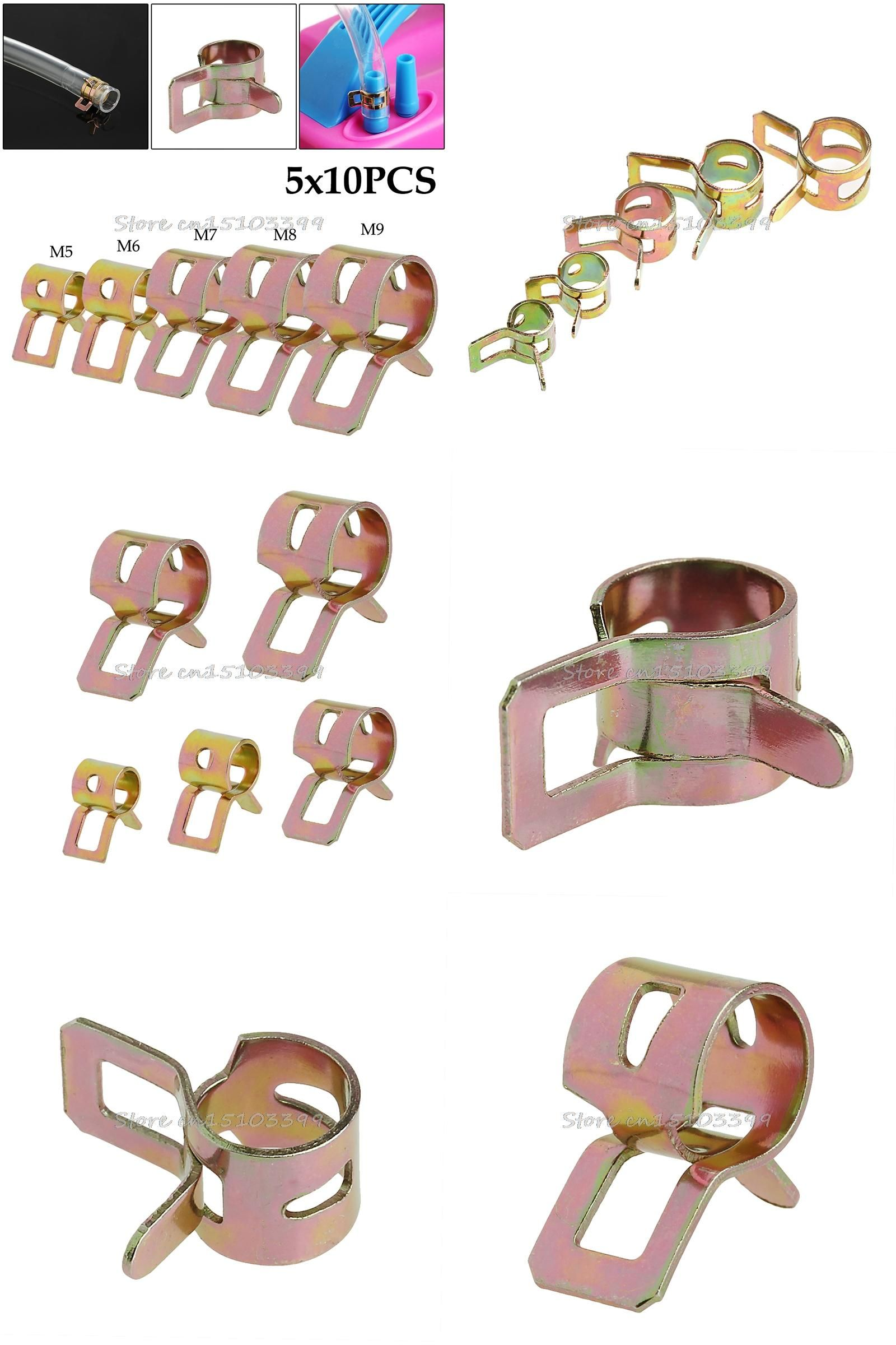 50Pcs Spring Clip Water Pipe Fuel Hose Air Tube Clamps Fastener 5//6//7//8//9mm