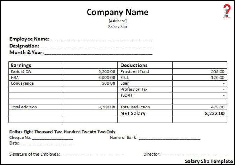 How To Make Salary Slip Format in PDF, Excel, Word How