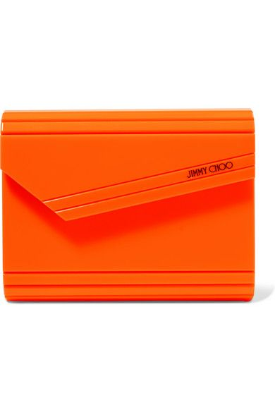 4c25d4ba45 Neon-orange acrylic and leather (Lamb) Magnetic-fastening front flap Comes  with dust bag Made in Italy