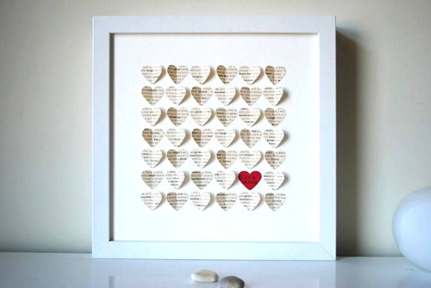 creative gifts for first wedding anniversary
