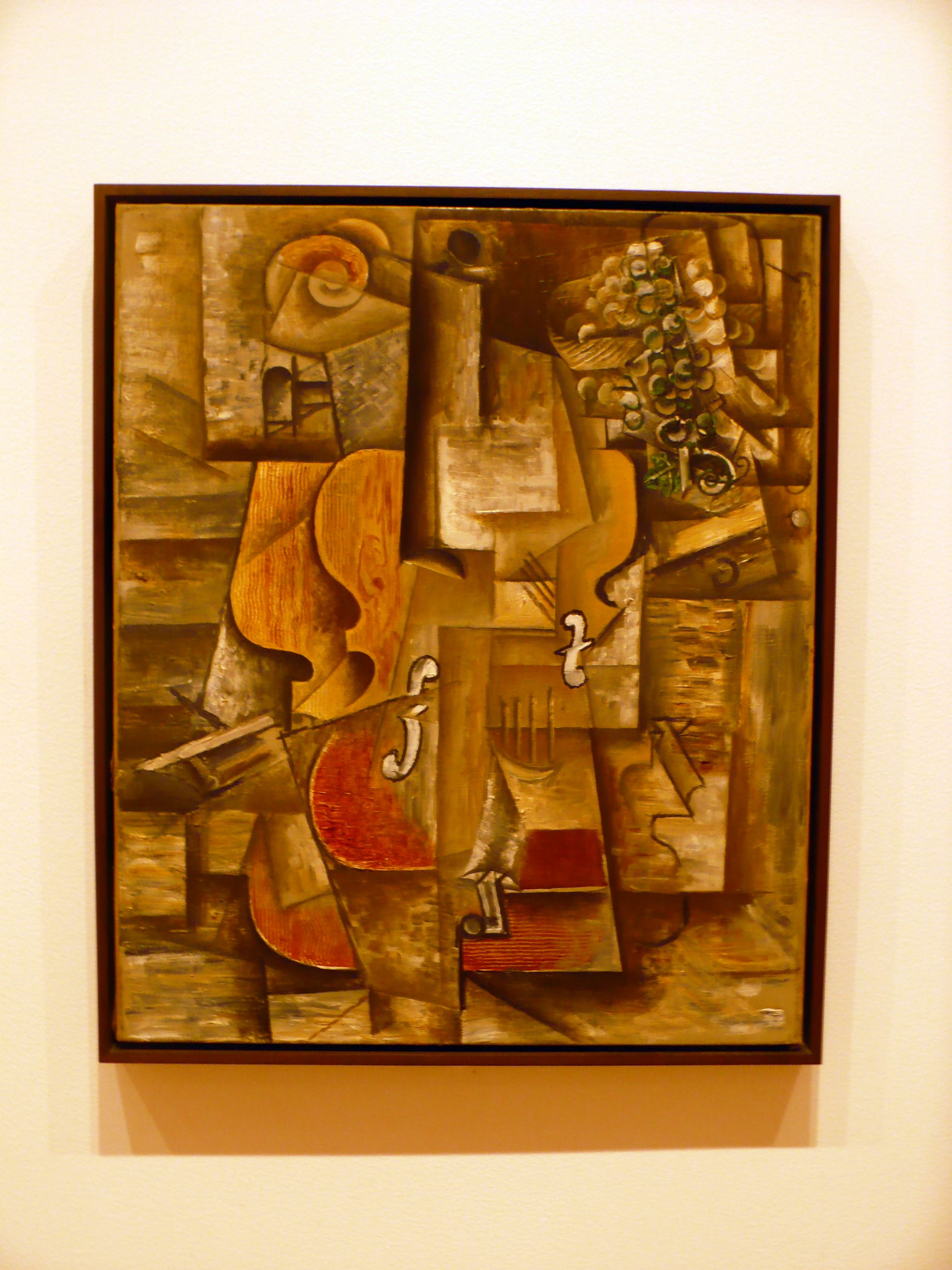 Violin and Grapes Pablo Picasso Cubism Paintings