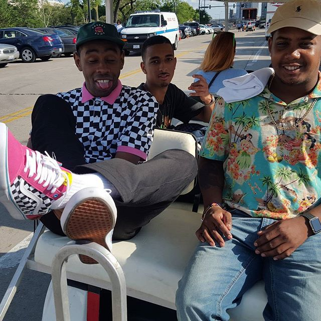 df39e04cdfb5 Tyler the Creator wearing the Odd Future x Vans Old Skool