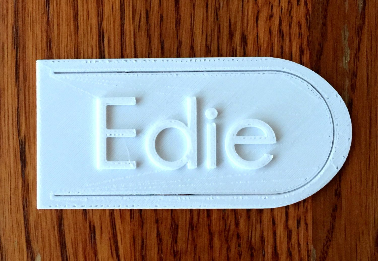 Personalized Bookmark 3D printed
