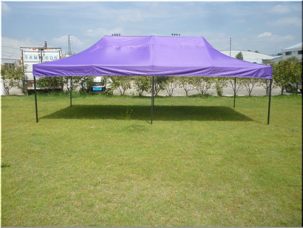 Outdoor Canopy Gazebo Shelter 10x20 Party Backyard Purple Steel Fabric Pop Up : outdoor canopy shelter - memphite.com