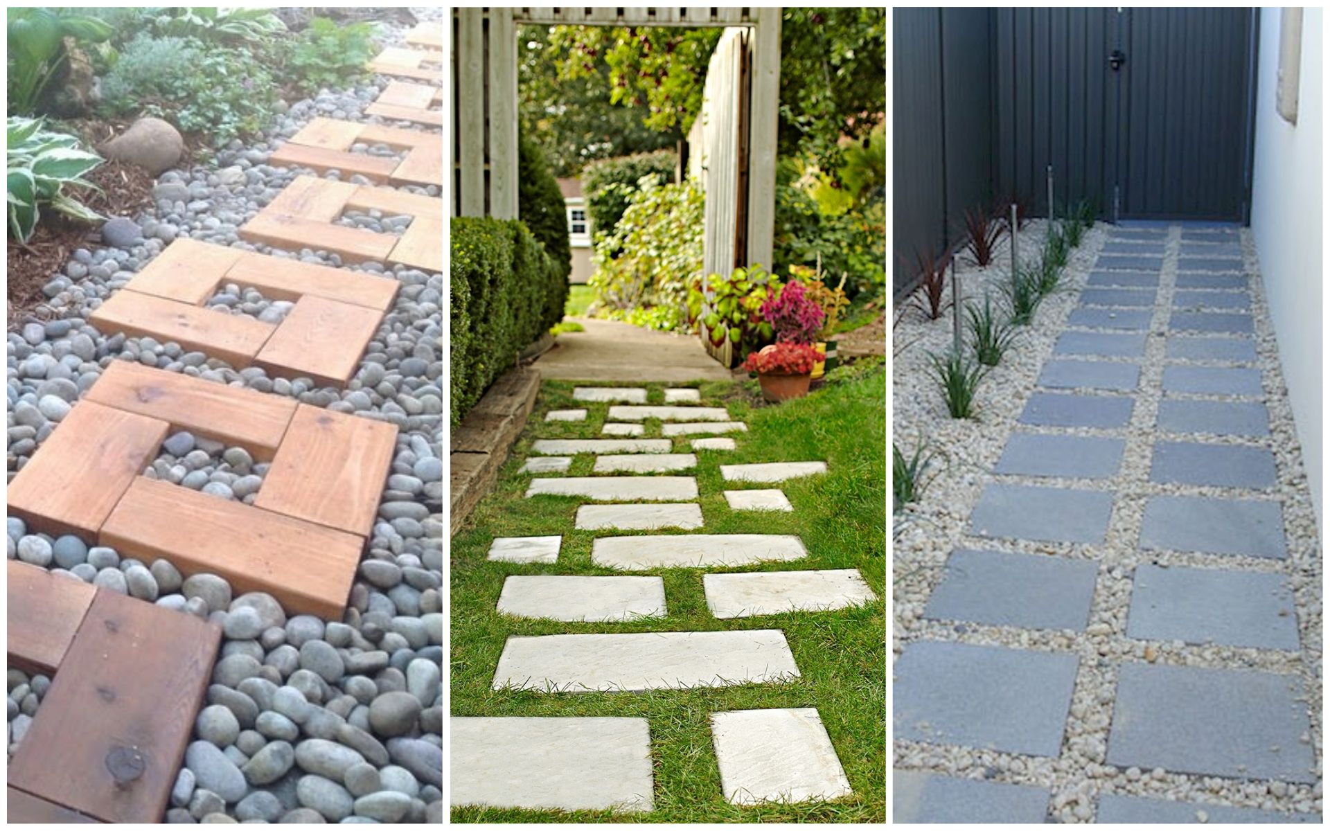15 creative diy stone path designs that everyone can do on magnificent garden walkways ideas for unique outdoor setting id=11830