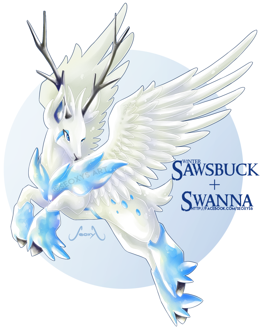 [Adopt] Winter Sawsbuck X Swanna [AUCTION] by Seoxys6.deviantart.com on @DeviantArt