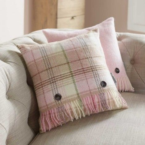 Wool Cushion- Pink Huntingtower Cushion available on Wysada.com