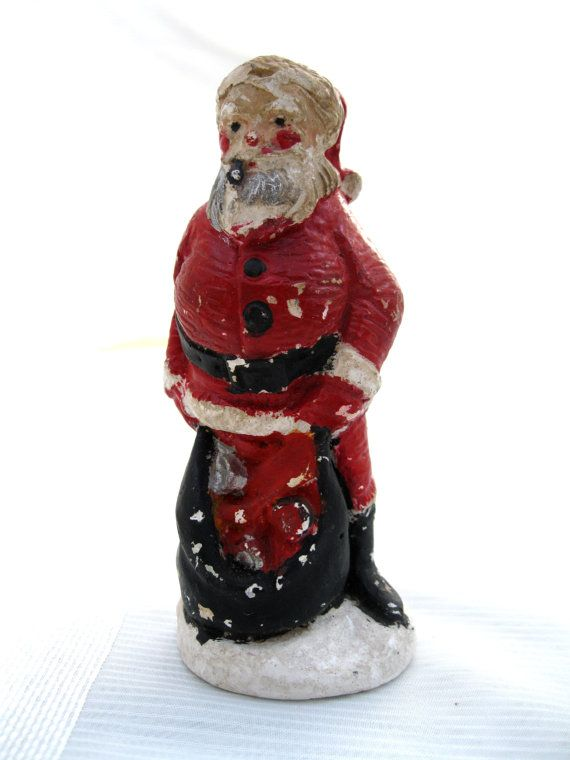 Vintage Santa / Chalkware from Tessiemay by tessiemay on Etsy, $12.00