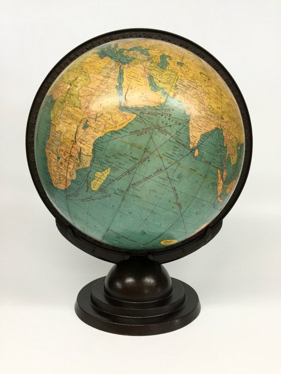 Antique World Globe, Cram's Terrestrial Globe, Desk Globe, Vintage Cram's  World Globe, Antique Globe, Vintage Office Decor - Antique World Globe, Cram's Terrestrial Globe, Desk Globe, Vintage