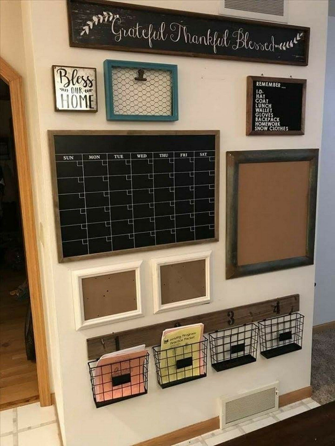 35 Smart Ways To Decorating Family Schedule And Command Center Ideas 26 Farmhouse Office Decor Home Office Organization Home Organization