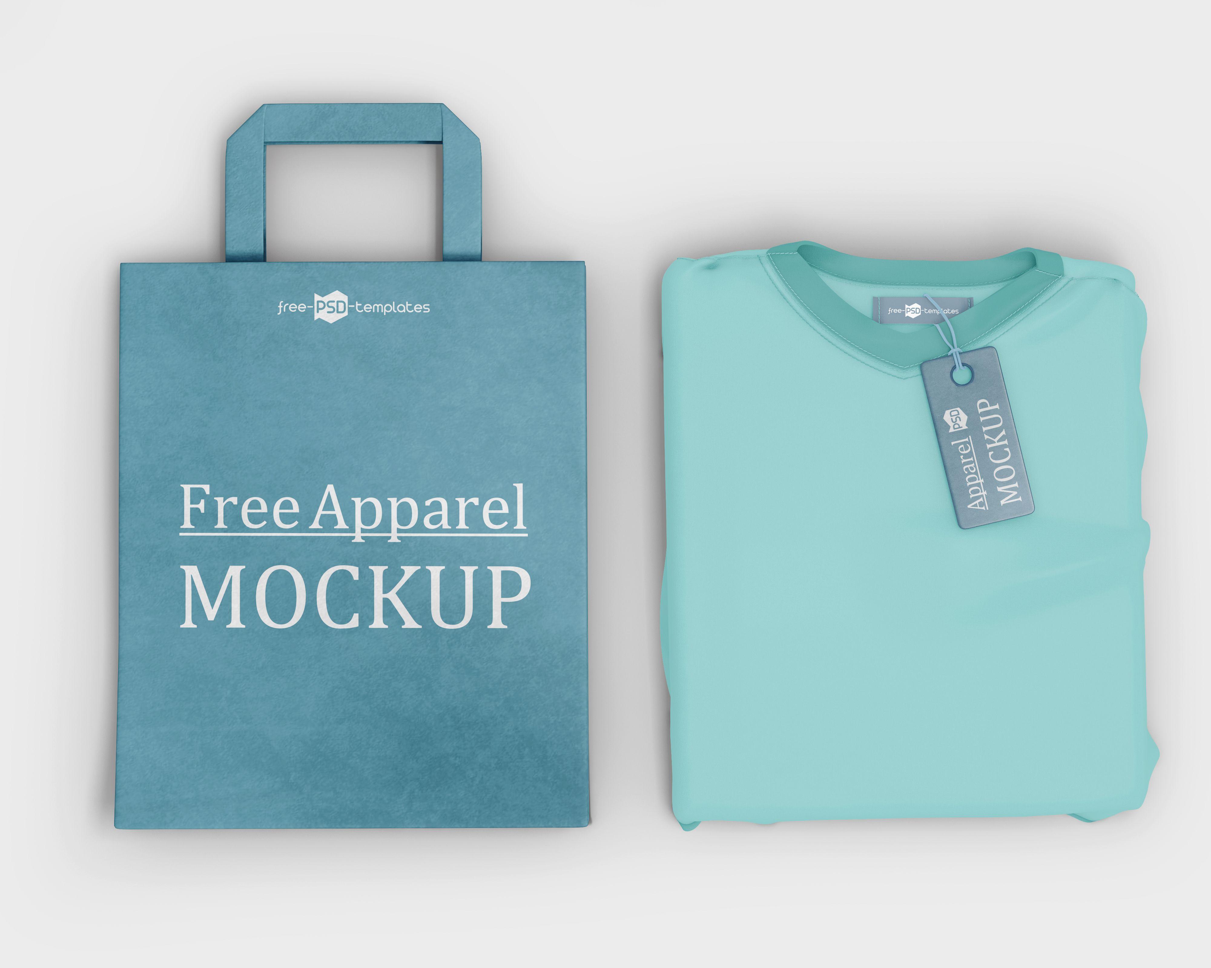 Download Free Apparel T Shirt Label Bag Mockup Mockup Free Psd Free Mockup Bag Mockup