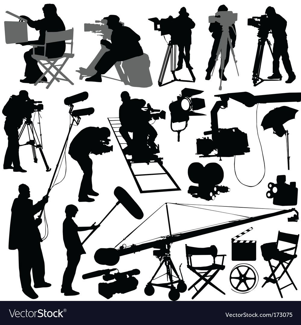 Film Elements Royalty Free Vector Image Vectorstock Sponsored Royalty Elements Film Free Ad In 2020 Film Set Festival Posters Silhouette Vector