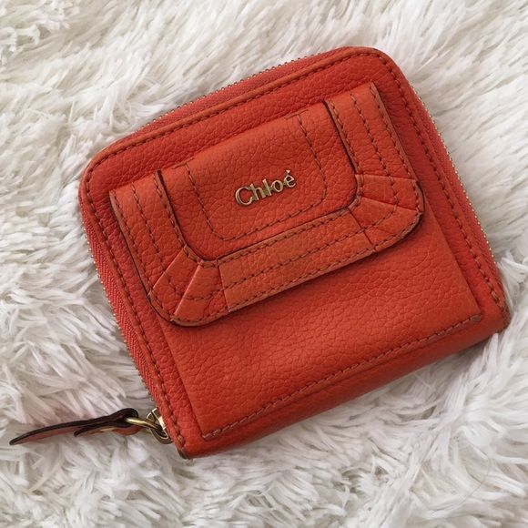 Chloé Ruffle Coin Purse Wallet Gently used. Small smudge on inside (see third photo), otherwise no signs of wear.  Authenticity card included. Chloe Bags Wallets