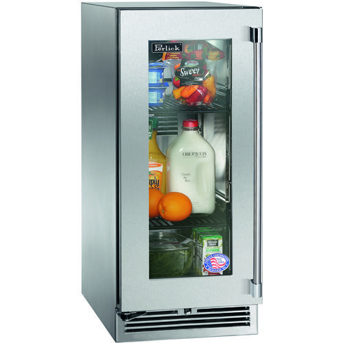 Perlick 15 Built In Outdoor Refrigerator W Glass Door Left Hinge
