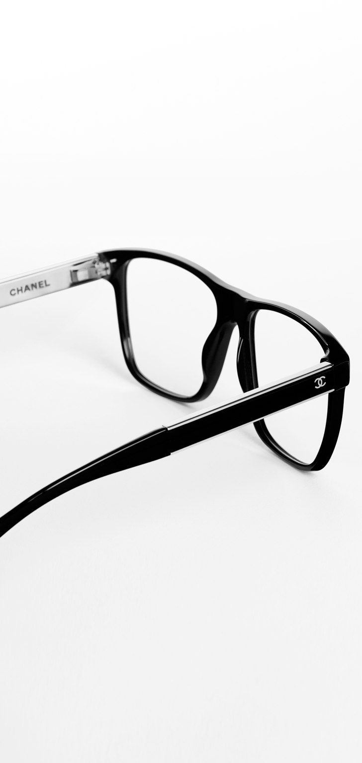 Oversized square acetate eyeglasses... - CHANEL