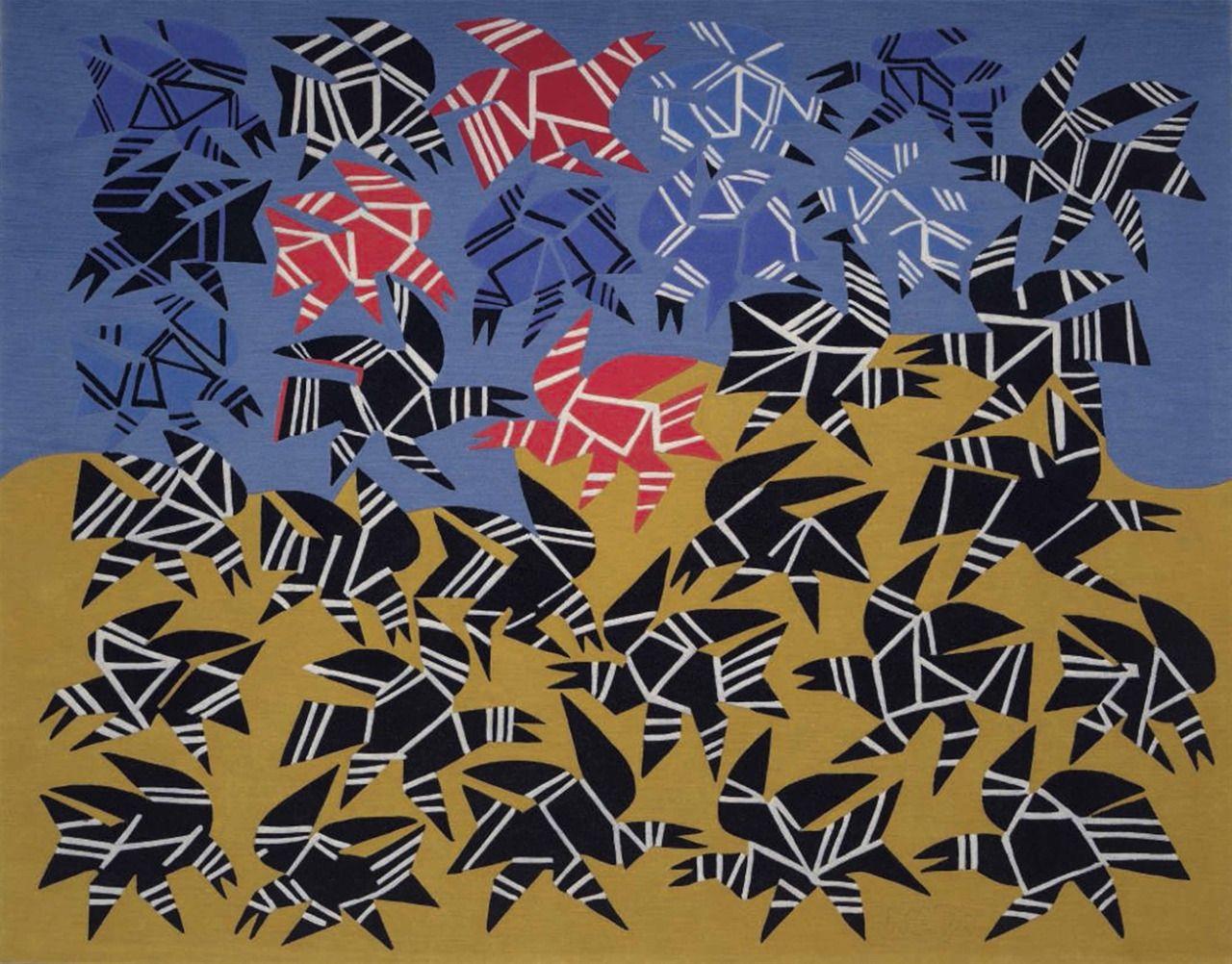 Hussein Madi (Lebanese, b. 1938), Untitled, 2015. Woven carpet, 180 x 230 cm.