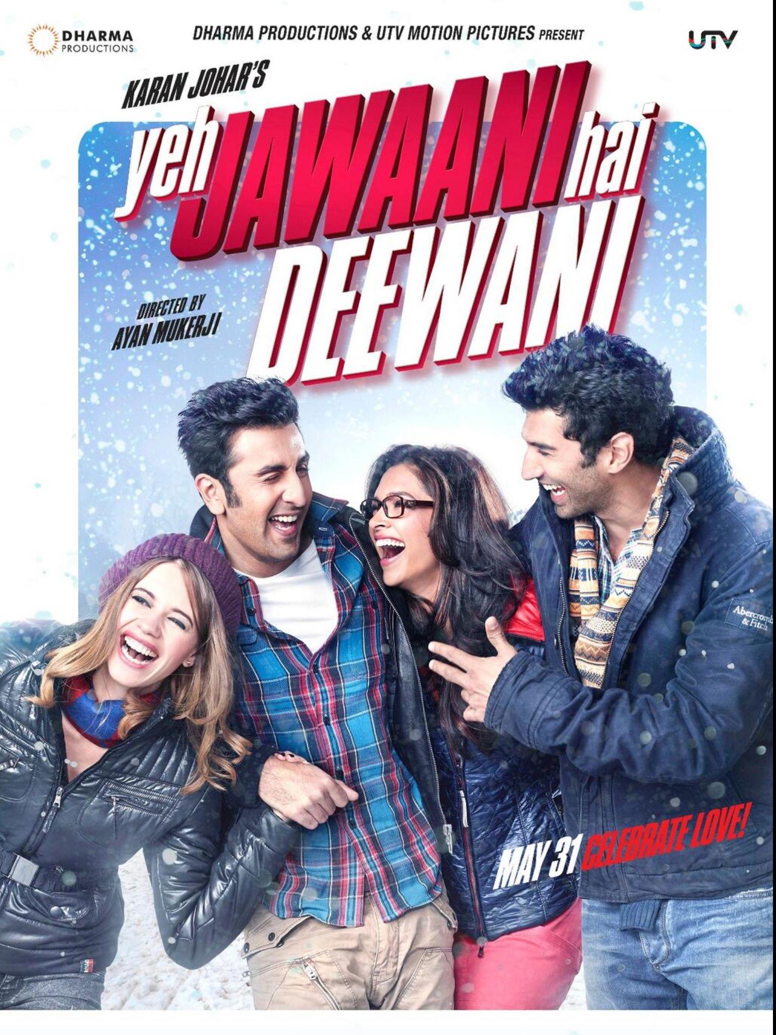 Yeh Jawaani Hai Deewani' poster feat. Deepika Padukone, Ranbir ...